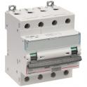 Disjoncteur différentiel monobloc DX³ 6000 - 10 kA courbe C - 20 A - Sensibilité 30 mA - 4 modules - Connexion auto / vis - Legr