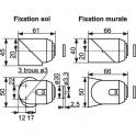 Butée magnétique composite blanche - Pose intérieur - Monin