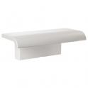 Tablette de douche blanche avec support - 97 x 230 x 78 mm - Arsis - Pellet ASC