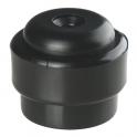 Butoir rond plastique noir creux - Ø 35 x 30 mm  - Guitel