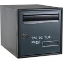 Boîte aux lettres gris anthracite simple face pas de pub - Stylis - Decayeux
