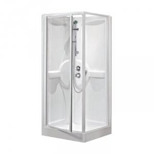 cabine de douche carr e porte pivotante transparente 80 x 80 cm m dia novellini cazabox. Black Bedroom Furniture Sets. Home Design Ideas