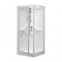 Cabine de douche carrée porte pivotante transparente - 90 x 90 cm - Média - Novellini