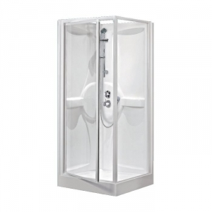 cabine de douche carr e porte pivotante transparente 90 x 90 cm m dia novellini cazabox. Black Bedroom Furniture Sets. Home Design Ideas