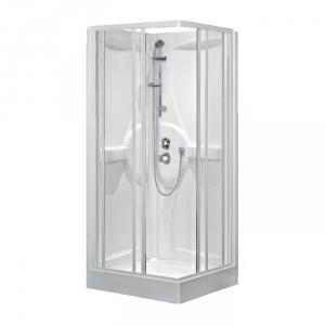 cabine de douche carr e portes coulissantes transparentes 80 x 80 cm m dia novellini cazabox. Black Bedroom Furniture Sets. Home Design Ideas