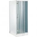 Porte de douche coulissante verre trempé granité - 3 ventaux - 780 à 820 mm - Riviera P - Novellini