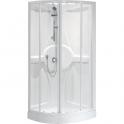Cabine de douche quart de rond portes coulissantes transparentes - 90 x 90 cm - Média - Novellini