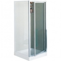 Porte de douche pivotante verre trempé granité - 1 ventail - 880 à 920 mm - Riviera G - Novellini