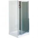 Porte de douche pivotante verre trempé granité - 1 ventail - 780 à 820 mm - Riviera G - Novellini