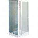 Paroi de douche fixe verre trempé granité - 80 cm mm - Lunes F - Novellini