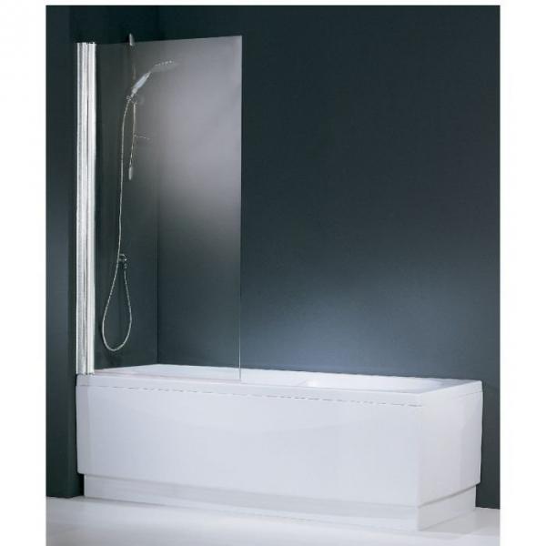 pare baignoire verre transparent 1 ventail 150 x 70 cm. Black Bedroom Furniture Sets. Home Design Ideas
