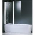 Pare-baignoire verre transparent - 2 vantaux - 150 x 120 cm - Aurora - Novellini