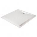 Receveur de douche extra-plat carré blanc - 90 x 90 cm - Presto