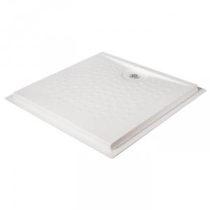 receveur de douche extra plat carr blanc 90 x 90 cm presto cazabox. Black Bedroom Furniture Sets. Home Design Ideas