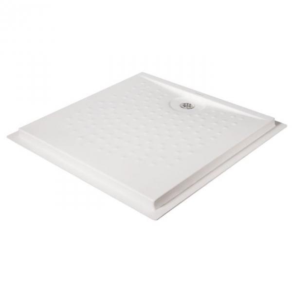 receveur de douche extra plat carr blanc 90 x 90 cm. Black Bedroom Furniture Sets. Home Design Ideas