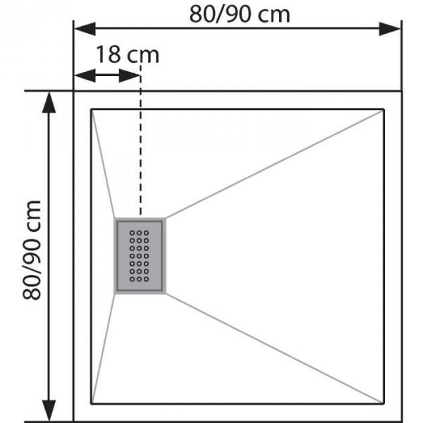 Receveur de douche carr blanc 80 x 80 cm kinecompact kinedo cazabox - Receveur de douche kinecompact ...