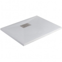 Receveur de douche carré blanc - 120 x 80 cm - Kinesurf - Kinedo