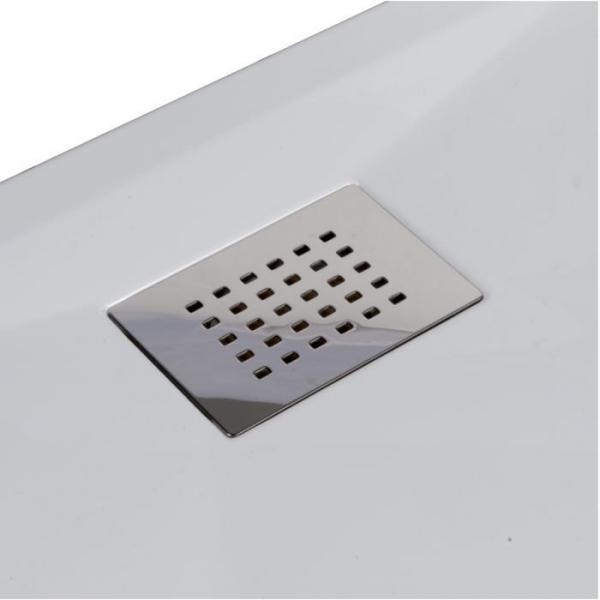 receveur de douche carr blanc 120 x 80 cm kinesurf kinedo cazabox. Black Bedroom Furniture Sets. Home Design Ideas