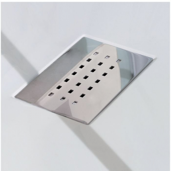 receveur de douche carr blanc 90 x 90 cm kinesurf kinedo cazabox. Black Bedroom Furniture Sets. Home Design Ideas