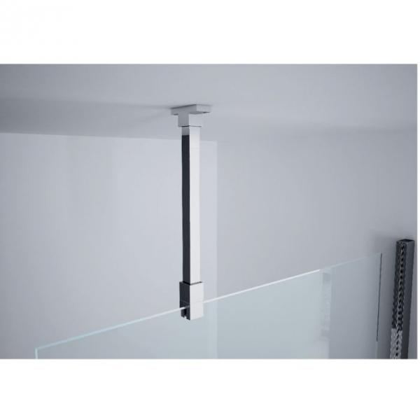 Paroi de douche fixe verre transparent 120 cm lunes h novellini cazabox - Paroi de douche 120 cm ...
