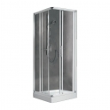 Porte de douche coulissante d'angle verre brossé - 4 ventaux - 780 à 810 mm - Lunes A - Novellini