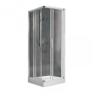 porte de douche coulissante d 39 angle verre bross 4 ventaux 870 900 mm lunes a. Black Bedroom Furniture Sets. Home Design Ideas