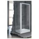 Porte de douche pivotante verre brossé - 1 ventail - 780 à 840 mm - Lunes G - Novellini