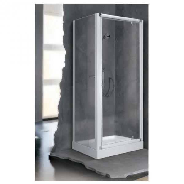 Porte de douche pivotante verre s rigraphi 1 ventail for Porte de douche 90x90