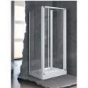 Porte de douche escamotable verre sérigraphié - 2 ventaux - 840 à 900 mm - Lunes S - Novellini