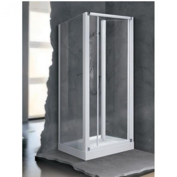 porte de douche escamotable verre s rigraphi 2 ventaux. Black Bedroom Furniture Sets. Home Design Ideas