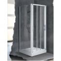 Porte de douche coulissante verre sérigraphié - 3 ventaux - 960 à 1020 mm - Lunes P - Novellini