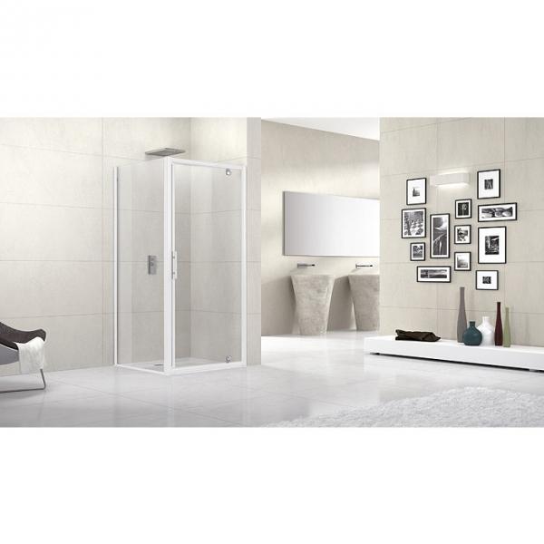 paroi de douche fixe verre bross 90 cm lunes f. Black Bedroom Furniture Sets. Home Design Ideas