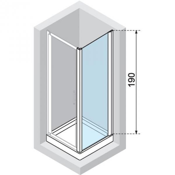 paroi de douche fixe verre s rigraphi 80 cm lunes f. Black Bedroom Furniture Sets. Home Design Ideas