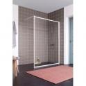 Paroi de douche fixe verre transparent - 120 cm - Atout 2 - Leda