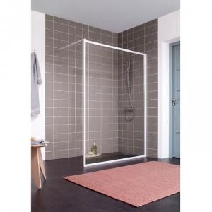 paroi de douche fixe verre transparent 120 cm atout 2 leda cazabox. Black Bedroom Furniture Sets. Home Design Ideas