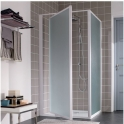 Porte de douche pivotante verre transparent - 1 ventail - 870 à 900 mm - Atout 2 - Leda