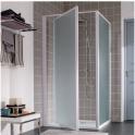 Porte de douche pivotante verre transparent - 1 ventail - 770 à 800 mm - Atout 2 - Leda