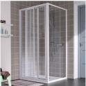 Porte de douche coulissante verre transparent - 3 vantaux - 870 à 900 mm - Atout 2 - Leda