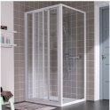 Porte de douche coulissante verre transparent - 3 vantaux - 1170 à 1200 mm - Atout 2 - Leda