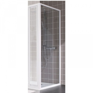 paroi de douche fixe verre transparent 90 cm atout 2 leda cazabox. Black Bedroom Furniture Sets. Home Design Ideas
