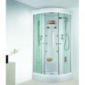 Cabine de douche quart de rond portes coulissantes transparentes - 90 x 90 cm - Odyssée - Leda