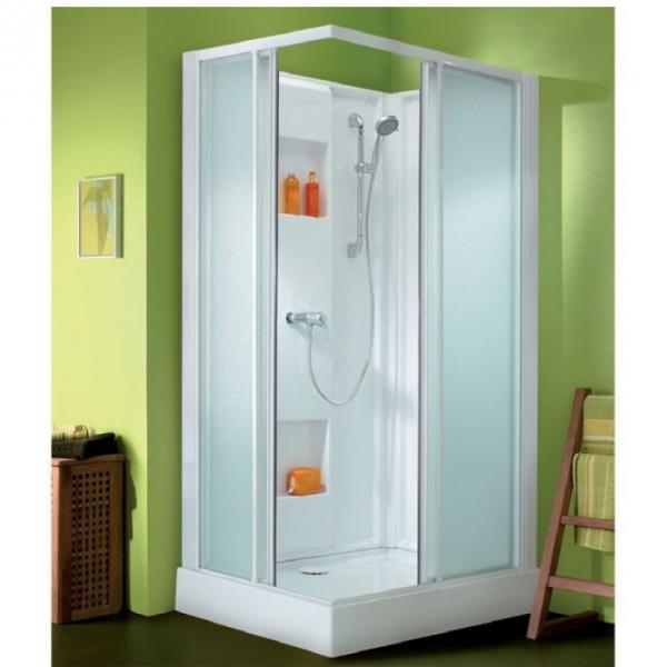 cabine de douche rectangulaire portes coulissantes granit es 100 x 80 cm izi box leda. Black Bedroom Furniture Sets. Home Design Ideas