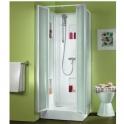 Cabine de douche carrée portes battantes transparentes - 80 x 80 cm - Izi Box - Leda