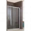 Porte de douche coulissante verre transparent - 2 vantaux - 90 cm - Jazz douche ouverte - Leda
