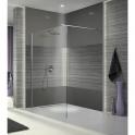 Paroi de douche fixe verre transparent - 90 cm - Open 2 - Leda
