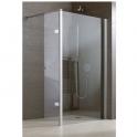 Volet de douche pivotant verre transparent - 25 cm - Jazz douche ouverte - Leda