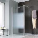 Paroi de douche fixe verre dépoli dégradé - 100 cm - Jazz - Leda