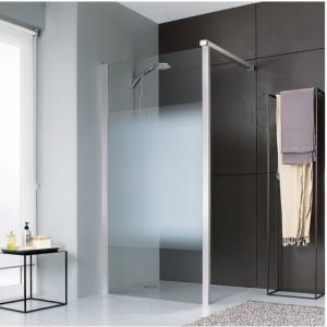 paroi de douche fixe verre d poli d grad 120 cm jazz leda cazabox. Black Bedroom Furniture Sets. Home Design Ideas