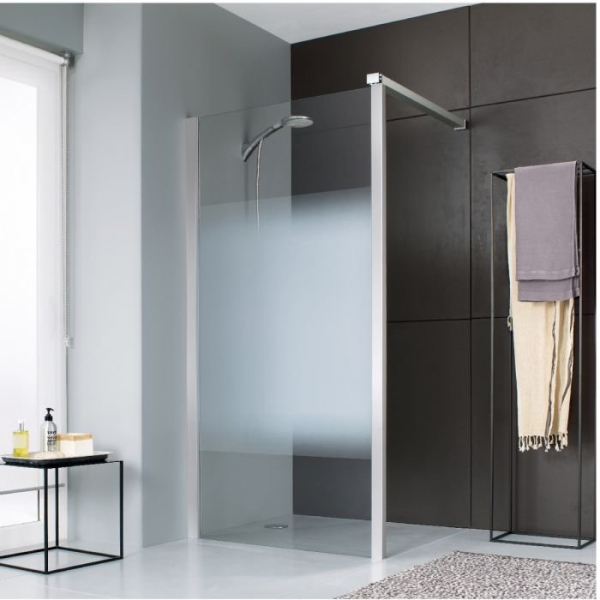 paroi de douche fixe verre d poli d grad 120 cm jazz leda cazabox. Black Bedroom Furniture Sets. Home Design Ideas