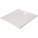 Receveur de douche carré blanc - 80 x 80 cm - Resisol - Créazur